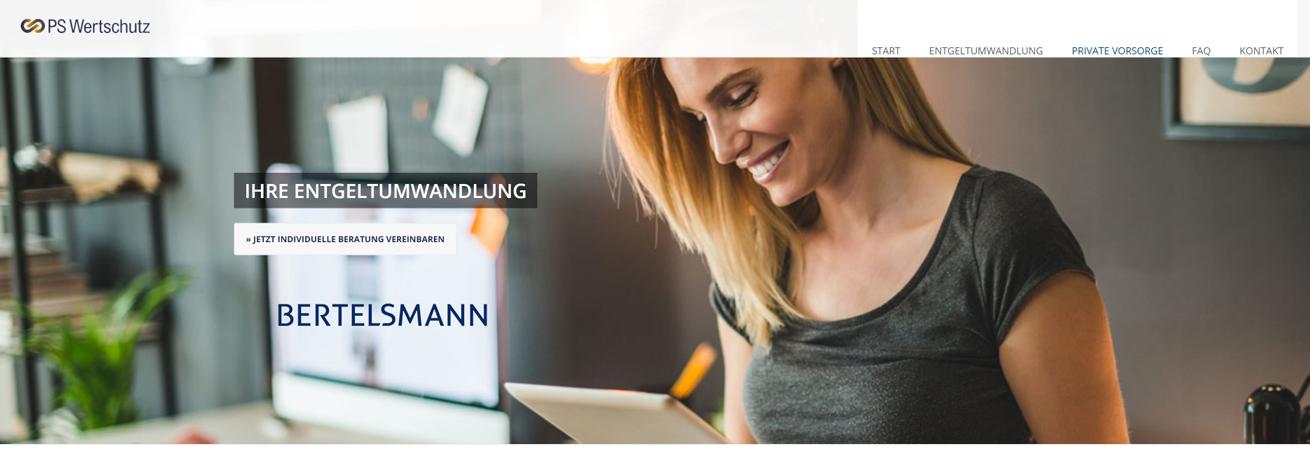 PS Wertschutz Vorsorgeportal Bertelsmann